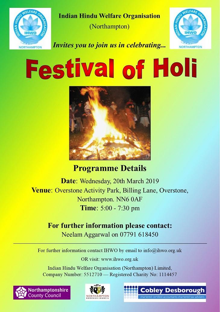 Holi festival 2019 northampton