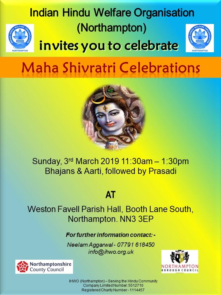 Shivratri Celebrations 2019 Northampton