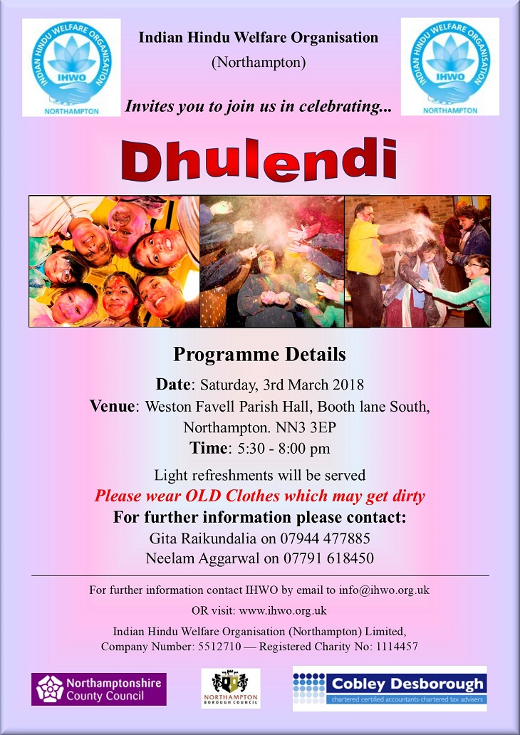 dhulendi celebrations northampton 2018
