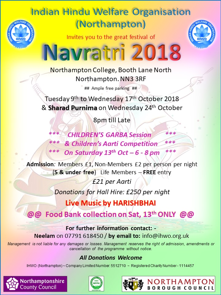 navratri celebrations northampton 2018
