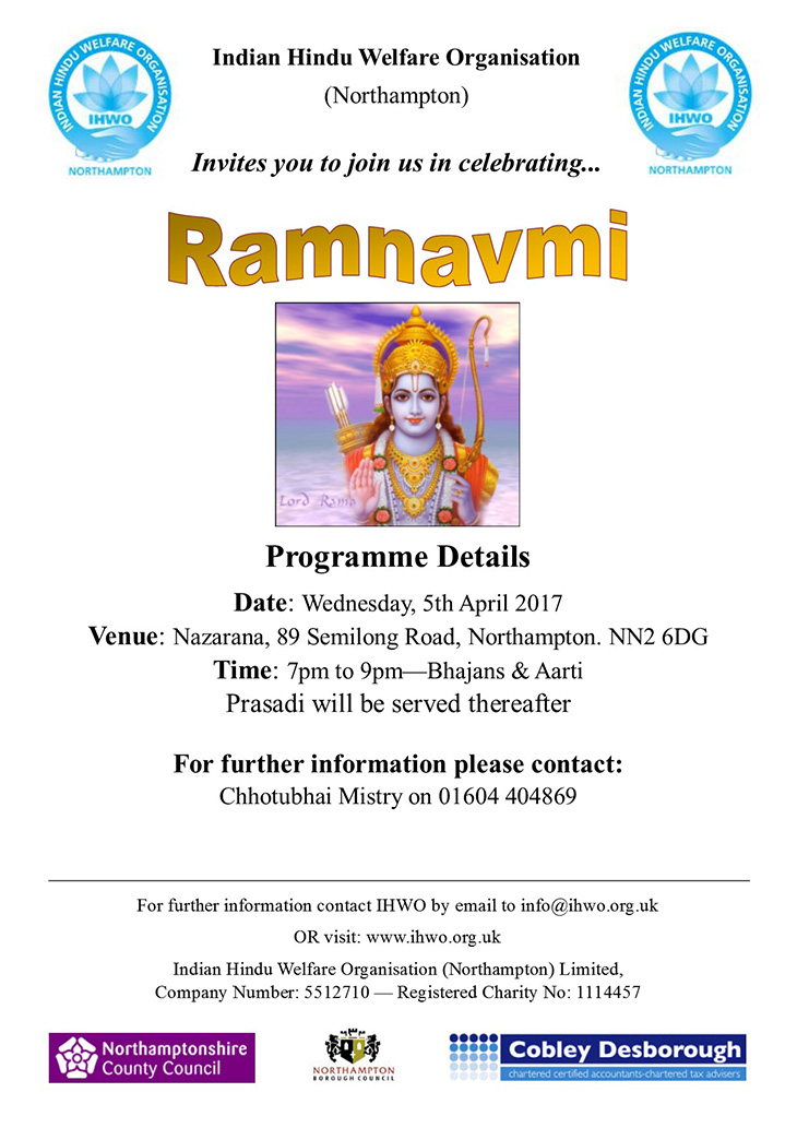 ram navmi celebrations northampton 2017 nazarana