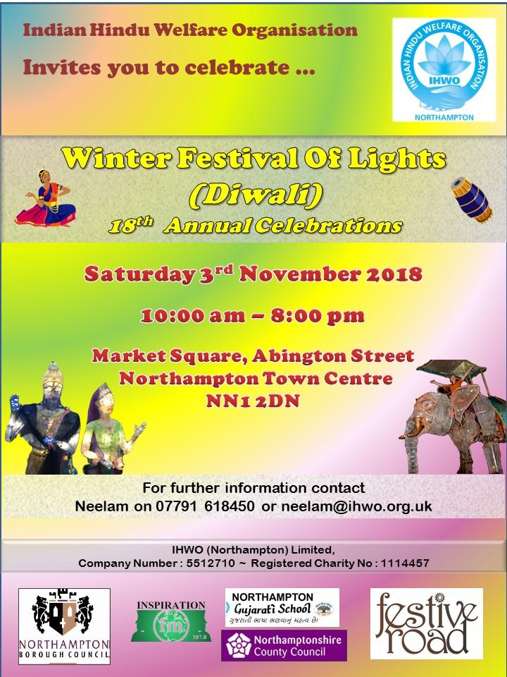 diwali lights 2018 northampton