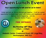 Open Luch Event 18th May 2014