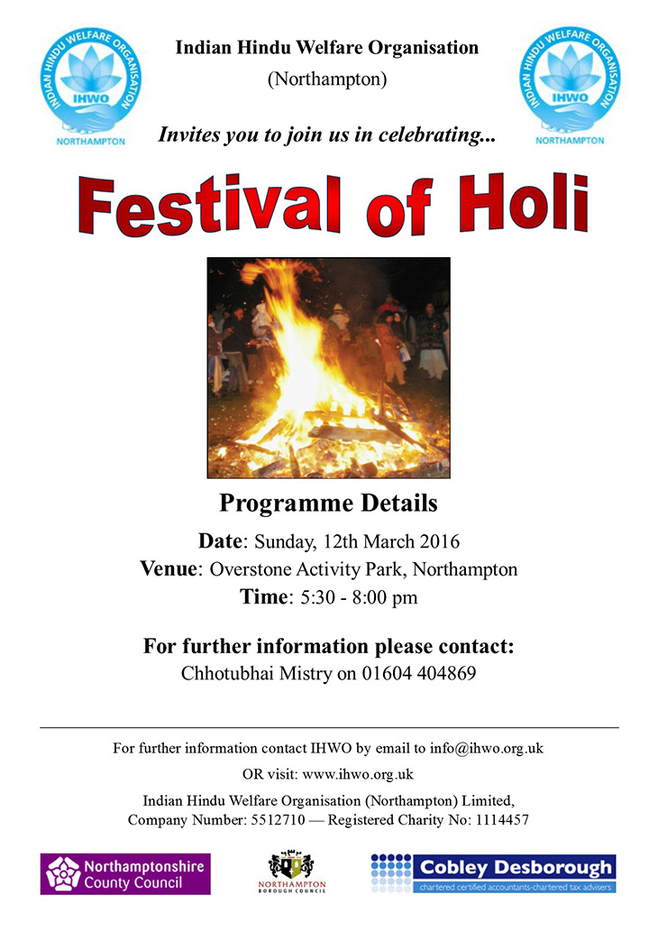 holi celebrations northampton 2017