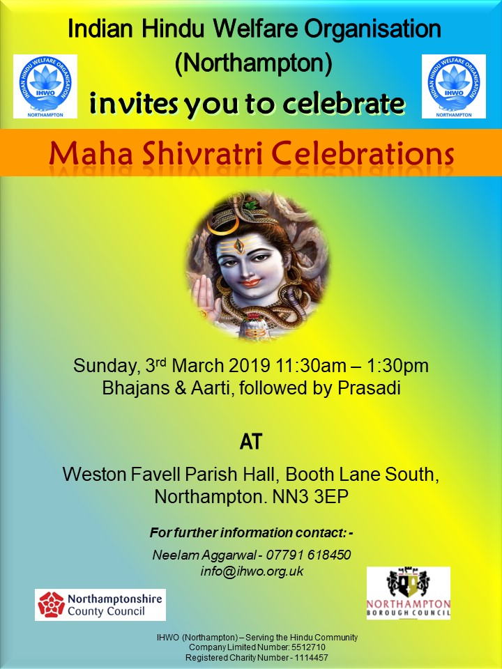 Shivratri Celebrations 2019 Northampton