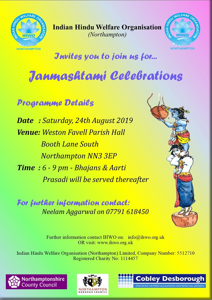 Janmashtami Northampton 24th August 2019