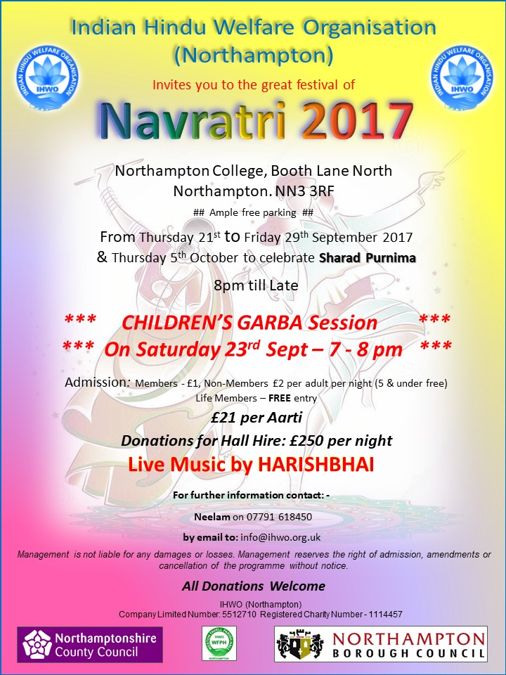 navratri celebrations northampton 2017