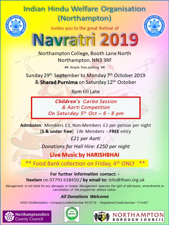 navratri celebrations 2019 northampton