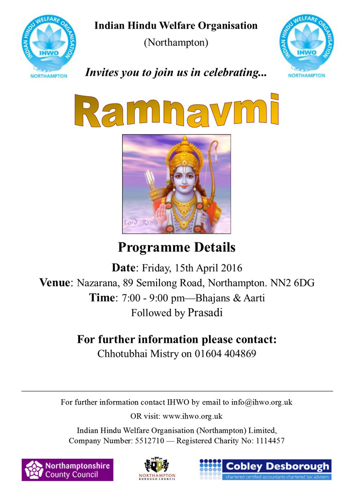 Ramnavmi Celebrations Northampton 2016